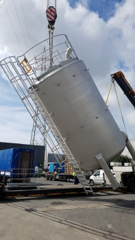 3 vertical solvent tanks in stainless steel 304L for Fenzi Europe