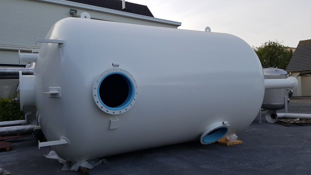 Construction of 3 vertical sand filters Ø 3.000mm